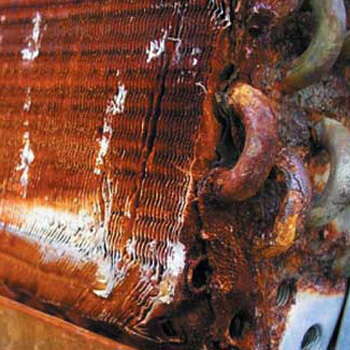 Copper Coils Rusting